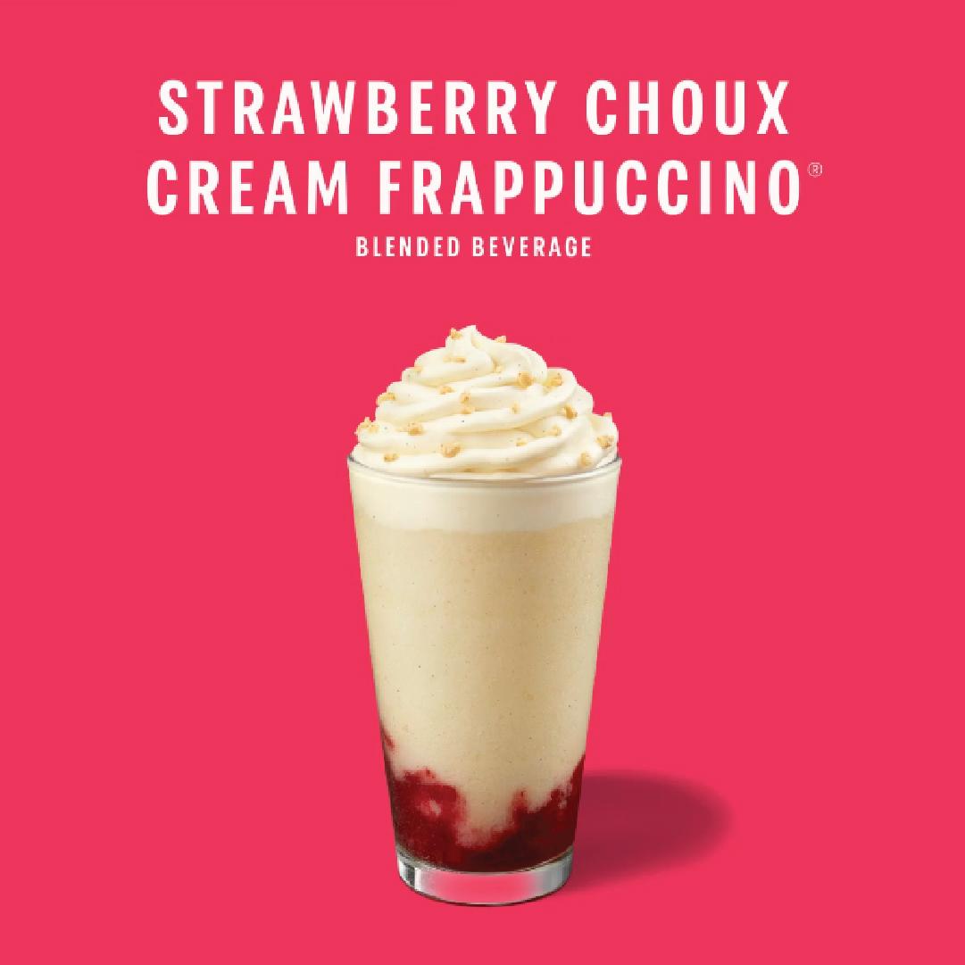 Starbucks – Strawberry Choux Cream Frappuccino